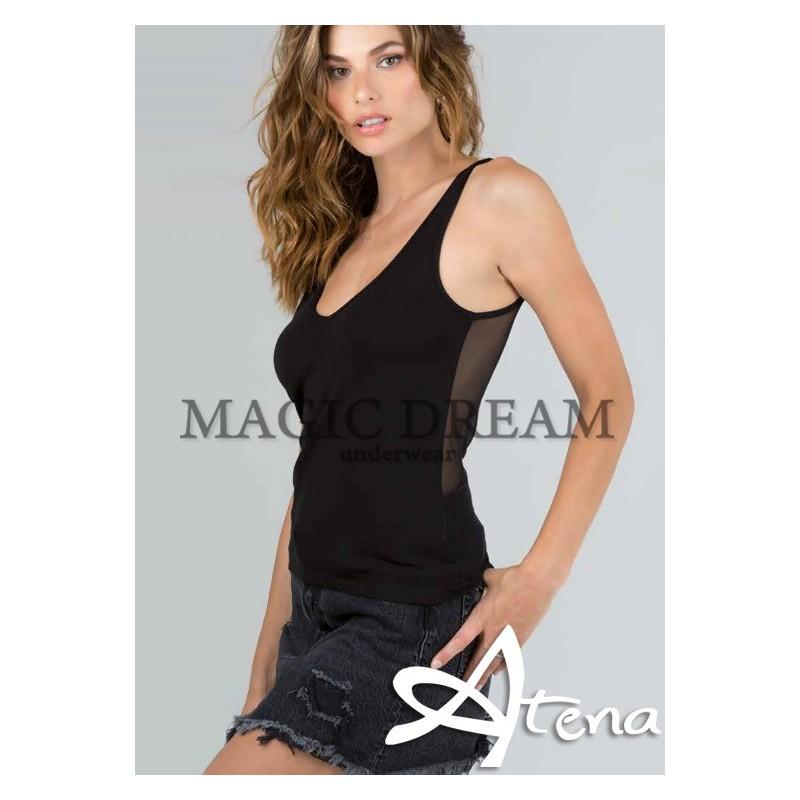 MagicDream maglia reversibile tulle nero o sabbia 7528