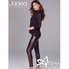 Jadea leggings invernali banda ecopelle Bordeaux 4087