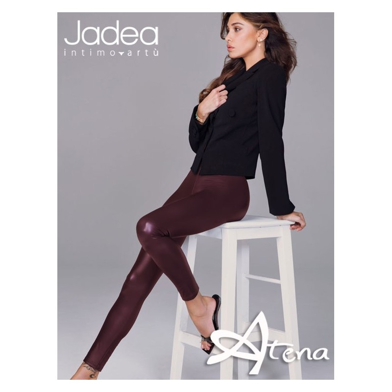 Jadea leggings invernali in ecopelle Bordeaux 4092