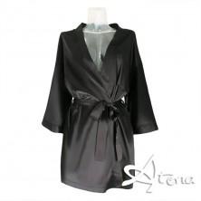 Kimono donna nero in raso Dorettela LivCorsetti