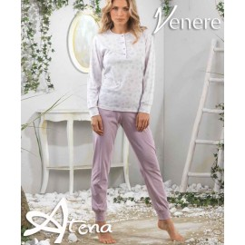 Pigiama fiori di ciliegio a serafino Venere 2031
