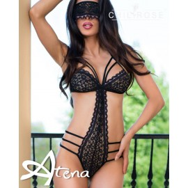 Body trikini string sexy pizzo bi-color...