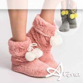 Pantofole Donna Sleepers HY4035 Rosa/Bianco