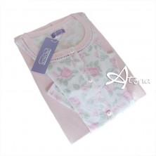 Pigiama donna Linclalor con roseto rosa 74117