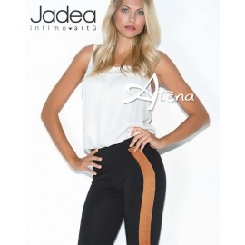 Jadea leggings con banda lurex argento o bronzo 4175