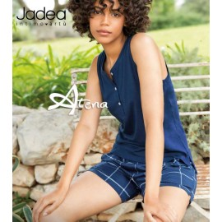 Jadea Pigiama donna Home Mojito Blu  canottiera + short 3104