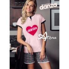 Pigiama donna Dimensione Danza maculato a cuori DD20186