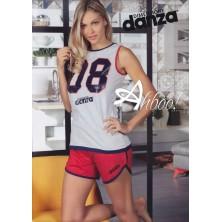 Pigiama donna Dimensione Danza canottiera + Shorts sportivo DD20187