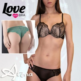 Coordinato reggiseno Pushup e brasiliana Love and Bra 4498