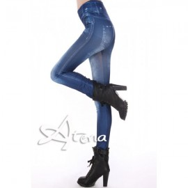 PANTACOLLANT FINTO JEANS 7941 BLU SCURO