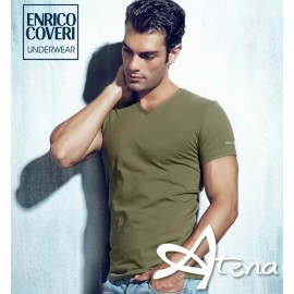 T-SHIRT COLLO A V MM ENRICO COVERI ET1501