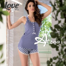 Pigiama Love And Bra short pois Pantelleria 7997