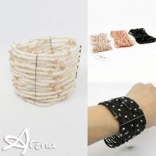 Braccialetto fascia perle in cristallo
