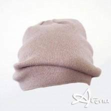 Berretto in lana angora con lurex