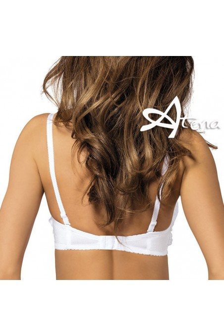 Reggiseno donna push-up a balconcino taglie forti Yvette/BB1 Coppa D retro bianco