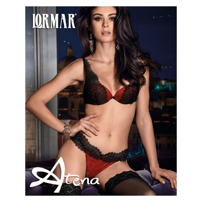 fdc8d6d0b4 Completino intimo Bralette in raso e pizzo + Brasiliana Sexy Lormar