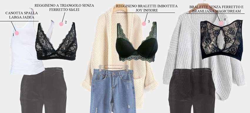 bralette outfit come indossarla